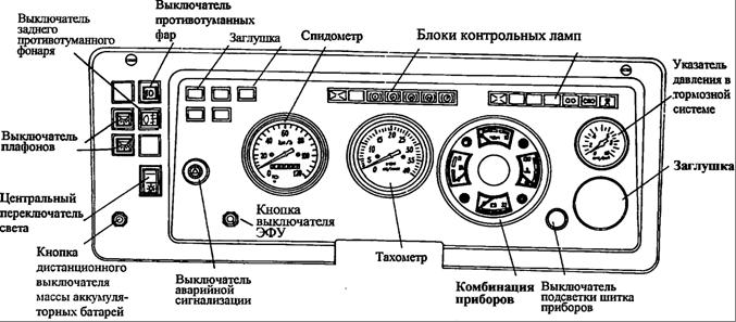 одежда кнопки на панели камаз 65115 значения только